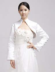 Wedding  Wraps Coats/Jackets Long Sleeve Satin Ivory Party/Evening / Casual Bell Open Front