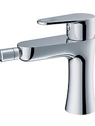 Centerset Single Handle un foro in Cromo Bidet rubinetto