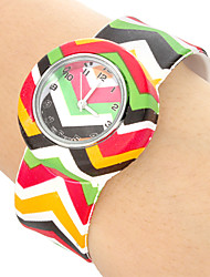 Children's Colorful colorful Pattern Bendable Plastic Band Slap Watch Cool Watches Unique Watches
