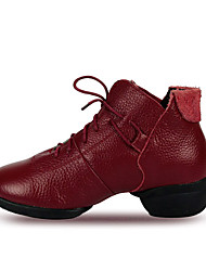 Women's Leather Dance Shoes With Hollow-out For Ballroom Sneakers(More Colors)
