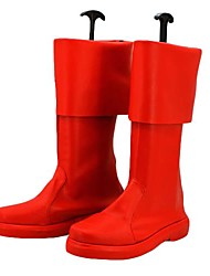 Captain America Red PU Leather Boots