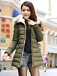 Women's Coat , Casual Feather