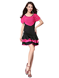 Dancewear Viscose And Tulle Latin Dance Outfits For Ladies