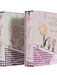 "Tartan papel del estilo floral 4 ""* 6"" Album de fotos (200 Pocket) (2 PC fijadas)"