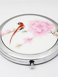 "2.5 ""Ronde Antiek Chinse Style Ceramic make-up spiegel"