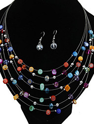 Elegant Alloy With Shell Imitation Pearl Jewelry Set Including Necklace,Earrings