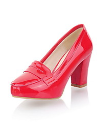 Lackleder Chunky Heel Pumps Heels (weitere Farben)