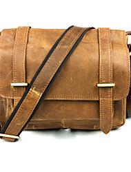 Vintage di cuoio reale degli uomini PIYIER della Corea del Tempo Postman Style spalla Crossbody Bag