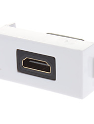 HDMI V1.3 Female to Female Wall Plate Coupler Type White