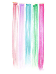 Sintetica dritto Hair Extension (Fluorescenza a colori)