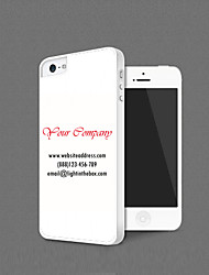 Personalized Promotional Gift Business Card Design Back Case for iPhone 5/5s(Assorted Color,Start from 100pcs)