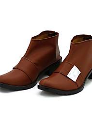Unlight Tyrael Brown PU-Leder-Schuhe