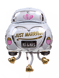 Wedding Décor  Car Metallic Balloon - Just Married