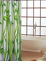 Shower Curtain Polyester Bamboo Pattern