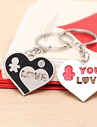 Design Keychain coeur Favor - Ensemble de 4 paires
