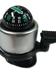 Silver Stainless Steel Bell with Compass Function