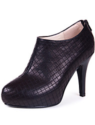 Leather Stiletto Heel Ankle Boots(More Colors)