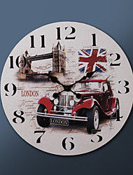 "23""H London Style Metal Wall Clock"