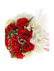"Wedding Flowers Round Roses Bouquets Wedding Red / White / Purple 7.09""(Approx.18cm)"