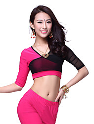 Dancewear Crystal Cotton Dance Top For Ladies