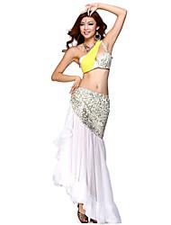 Dancewear spandex y gasa de danza del vientre trajes para damas (más colores)