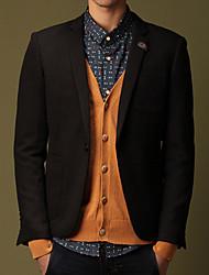 Men's Coats & Jackets , Polyester Long Sleeve Work JUNHAN