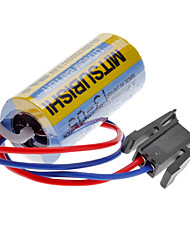 Mitsubishi A6BAT ER17330V 3.6V 2000mAh Lithium Battery industrial w / Plug