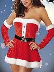 Christmas Costume Deusa Lua Red Velvet da Mulher