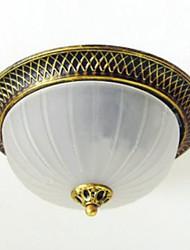 montaje empotrado, 2 luz, vidrio pintura de estilo clásico europeo