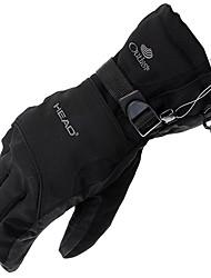 Schwarz Wasserdicht Vollfinger-Handschuhe mit Schnee Fastener