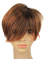 Capless Synthetic Short Light Brown Hair Wigs