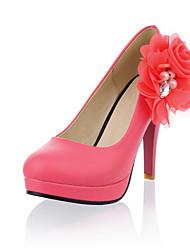 Chaussures Femme - Habillé - Noir / Rose / Blanc - Talon Aiguille - Talons / A Plateau - Talons - Similicuir
