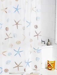 """Shower Curtain Starfish Print W71 x L71"""""""