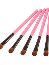Rosa de la moda de sombra de ojos cepillo 5PCS Set (15 cm)