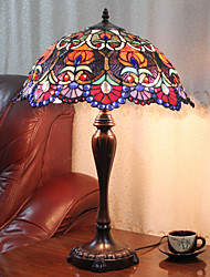 Table Lamp, 2 Light, Tiffany Zinc Alloy Glass Painting