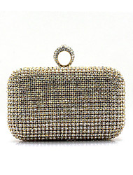 Women Other Leather Type Baguette Clutch-Gold / Silver / Black