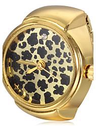 Damen Quartz Band Leopard Gold