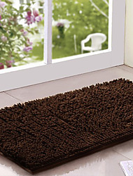 "Bath Rug Chenille 16x24"" Brown"