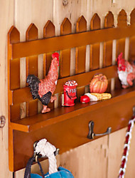 "13.75""Pastoralism Shelf With Hook(3 Hooks)"