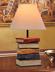 Modern Book Style Resin Table Lamp White Shade