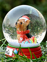 Lovely Yorkshire Decorative Crystal Ball Ornament Christmas Gift for Pet Lovers