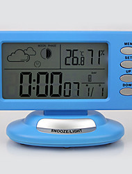 "6.5 ""style de bande dessinée d'alarme Weather Clock"