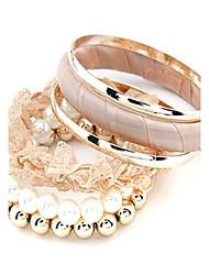 Mode perles volet dentelle couches multi Bracelet
