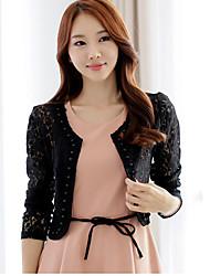Women's Coats & Jackets , Lace Casual PINYOU