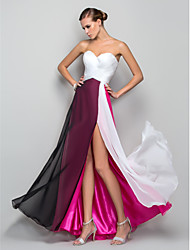 TS Couture® Formal Evening / Military Ball Dress - Furcal Plus Size / Petite A-line / Princess Sweetheart Floor-length Chiffon with Split Front