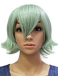 Capless Synthetic Green Short Straight Party Wig