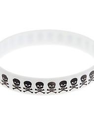 (1 pc) Mode unisexe Blanc Silicon ID Bracelet