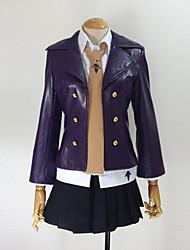 Inspirado por Dangan Ronpa Kyoko Kirigiri Vídeo Jogo Cosplay Costumes Ternos de Cosplay Cor Única Preto Manga CompridaCasaco / Camisa /