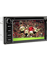 6.2inch 2 Din Universal Car DVD-speler voor Toyota Vóór 2006 met 3G, WiFi, GPS, iPod, RDS, BT, TV, Touch Screen