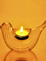 "6""Glass Bird Style Candle Votive"